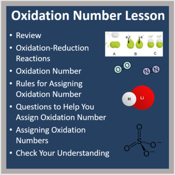 Oxidation Numbers - PowerPoint Lesson and Student Notes Package