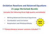 Oxidation Reactions and Balanced Equations [Worksheet Bundle]