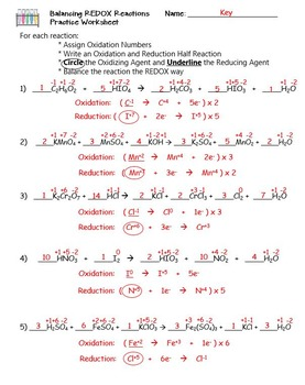 Oxidation And Reduction Balancing Redox Reactions By The Scientific
