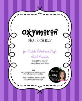 Oxymoron Note Card