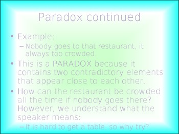Oxymorons, Paradoxes, and Idioms!