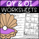 Oy and Oi Worksheets: Sorts, Cloze, Read and Draw