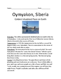 Oymyakon, Siberia Russia - coldest place on earth Cold Pole Festival facts