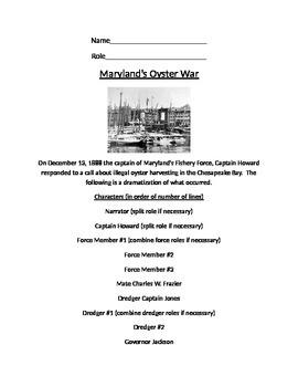 Oyster War Play