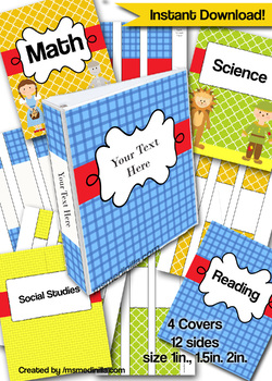 Oz Binder Cover Editable File Teacher Binders, Student Portfolio K-3 Grade