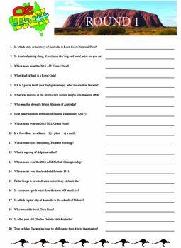 Oz Trek Quiz