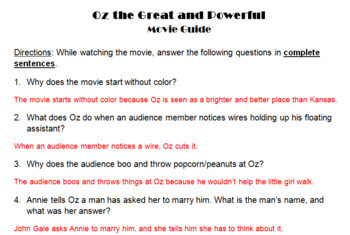 Oz the Great and Powerful Movie Guide