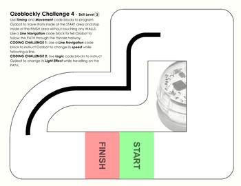 Ozoblockly Challenge 3 & 4