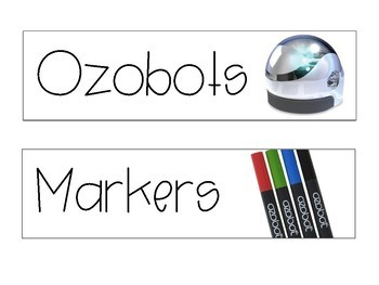 Ozobot 3 Drawer Labels
