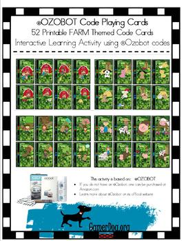 Ozobot 52 Printable FARM Code Playing Cards