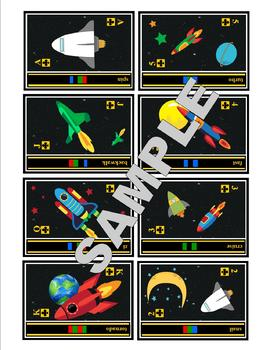 Ozobot 52 Printable SPACE Code Playing Cards