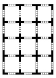Ozobot™  Blank 4x5 4 box blank practice sheet
