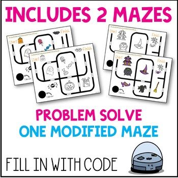 Ozobot Maze Activity Sheet: Halloween