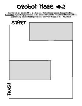 Ozobot Mazes: Part 1 (EVO or BIT)