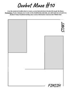 Ozobot Mazes: 10 Unique Mazes (EVO or BIT)