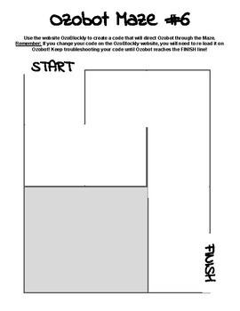 Ozobot Mazes: Part 2 (EVO or BIT)