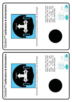 Ozobot Orientation and Calibration Card (print 2 on one page)