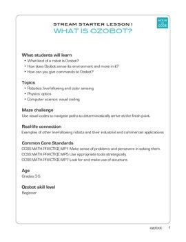 Ozobot Robot Curriculum 1 - Coding for Kids to Learn and P