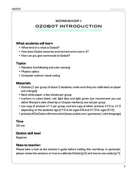 Ozobot Robot Workshop 1 - Coding for Kids to Learn and Play STEM