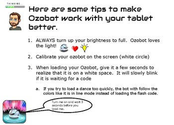 Ozobot Tablet Tips