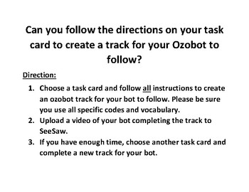 Ozobot Task Cards - Geometry