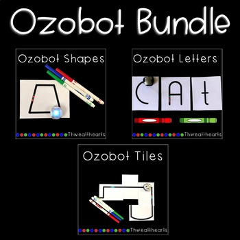 Ozobot Tiles, Letters and Shape Bundle