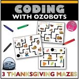 Ozobot Activity Sheet Thanksgiving Maze