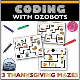 Ozobot Activity Sheet Thanksgiving Maze