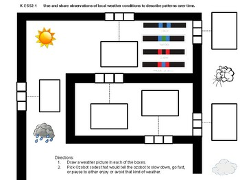 Ozobot Weather Maze for Kindergarten/1st grade