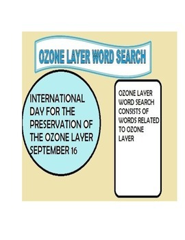 Ozone Layer Word Search