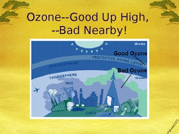 PowerPoint:  Ozone & Ozone Depletion