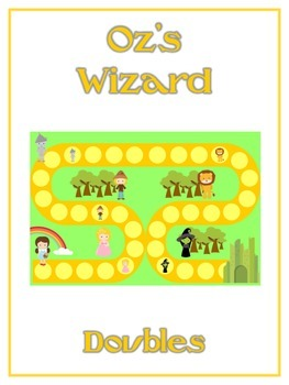 Oz's Wizard Math Folder Game - Common Core - Adding Doubles