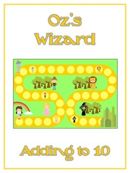 Oz's Wizard Math Folder Game - Common Core - Adding within 10
