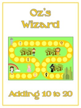 Oz's Wizard Math Folder Game - Common Core - Adding 10 to 20