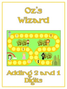 Oz's Wizard Math Folder Game - Common Core - Adding 2 and 1 Digit Numbers