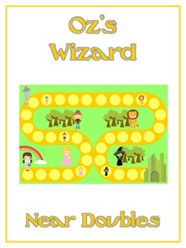 Oz's Wizard Math Folder Game - Common Core - Adding Near Doubles