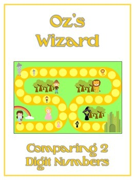 Oz's Wizard Math Folder Game - Common Core - Comparing 2 Digit Numbers