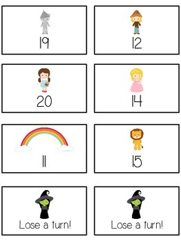 Oz's Wizard Math Folder Game - Common Core - Counting On From Number