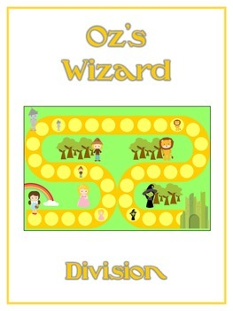 Oz's Wizard Math Folder Game - Common Core - Division - Dividing Numbers