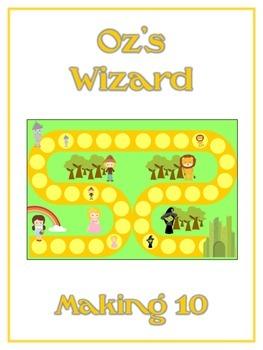 Oz's Wizard Math Folder Game - Common Core - Making Ten