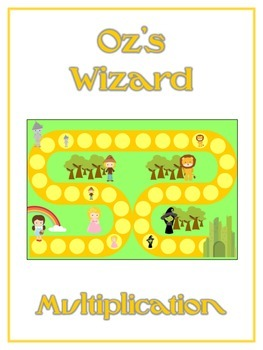Oz's Wizard Math Folder Game - Common Core - Multiplication