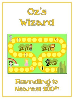 Oz's Wizard Math Folder Game - Common Core - Rounding to Nearest 100th