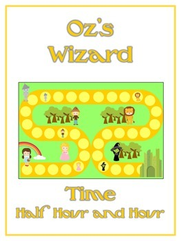 Oz's Wizard Math Folder Game - Common Core - Telling Time Half Hour Hour
