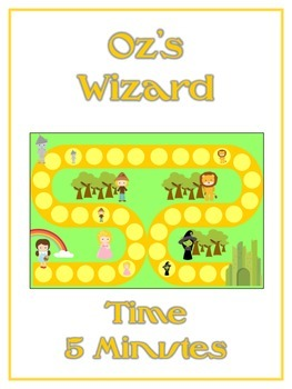 Oz's Wizard Math Folder Game - Common Core - Telling Time within 5 Minutes