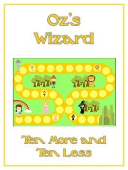 Oz's Wizard Math Folder Game - Common Core - Ten More and Ten Less