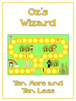 Oz's Wizard Math Folder Game - Common Core - Ten More and