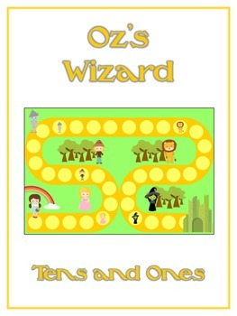 Oz's Wizard Math Folder Game - Common Core - Tens and Ones - Place Value