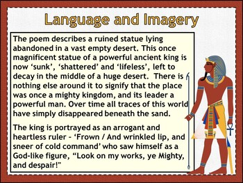 Ozymandias (PowerPoint and worksheets)