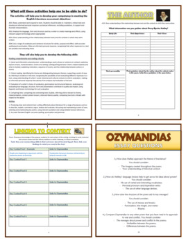 Ozymandias Comprehension Activities Booklet By Tandlguru  Tpt Ozymandias Comprehension Activities Booklet