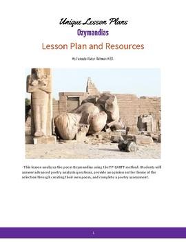 Ozymandias Lesson Plan, Analysis, Assessment, and Evaluation